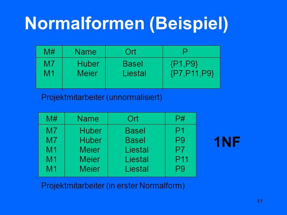 Normalformen (Beispiel)
