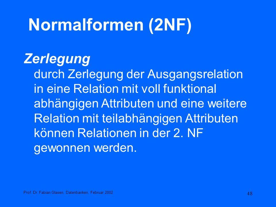 Normalformen (2NF)
