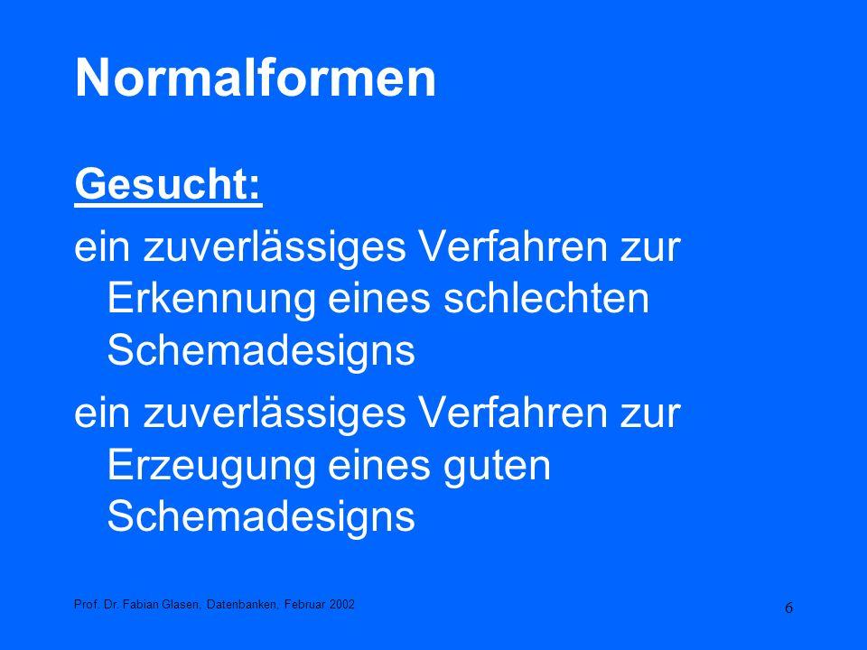 Normalformen Gesucht:
