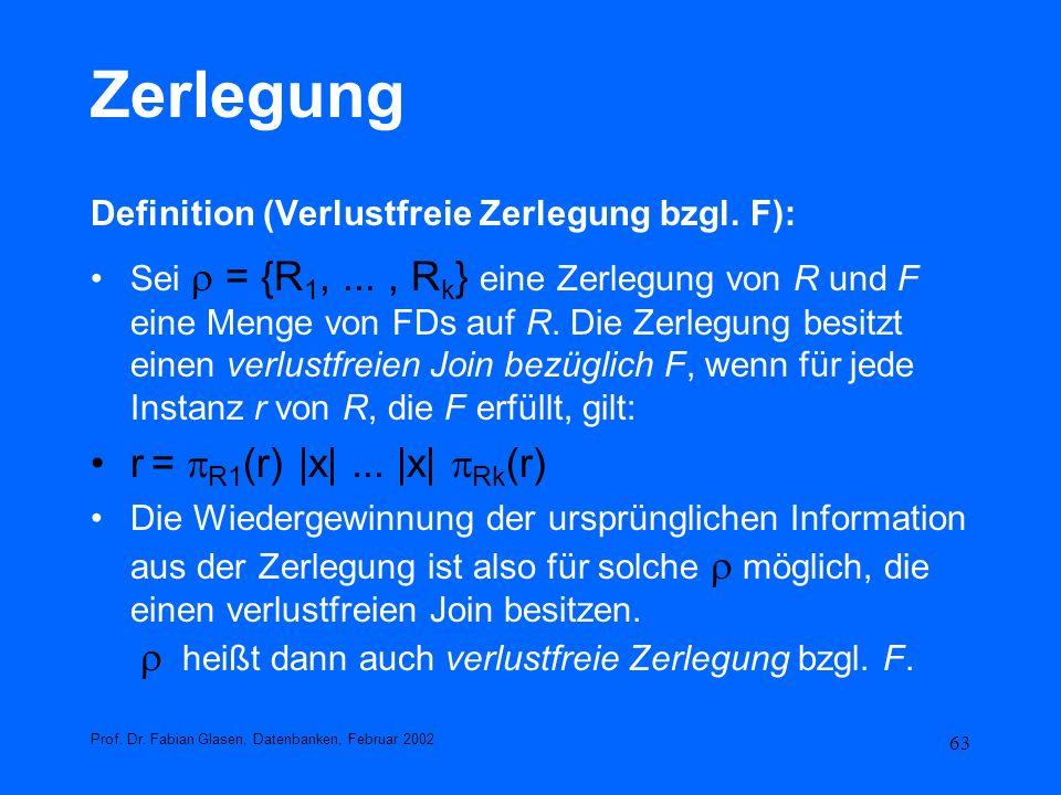 Zerlegung r = R1(r) |x| ... |x| Rk(r)