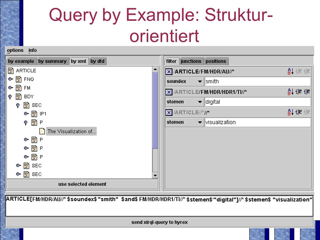 Query by Example: Struktur-orientiert