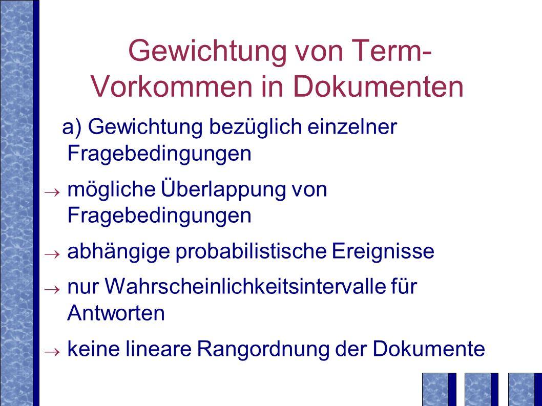 Gewichtung von Term-Vorkommen in Dokumenten