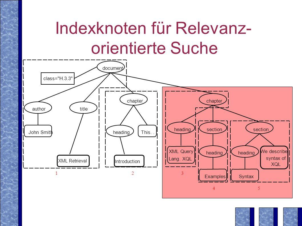 Indexknoten für Relevanz-orientierte Suche