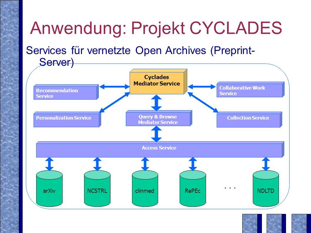 Anwendung: Projekt CYCLADES