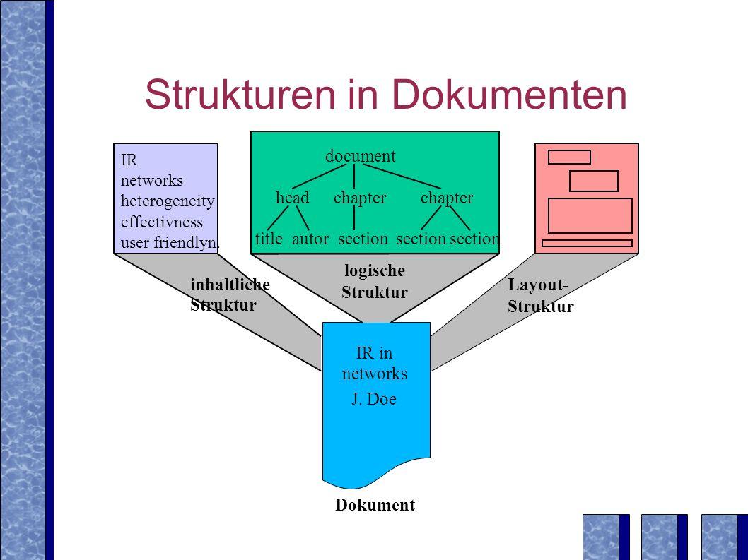 Strukturen in Dokumenten