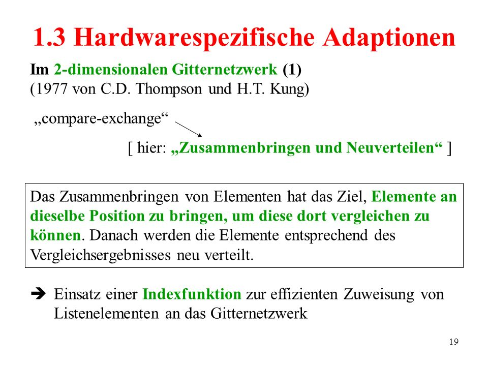 1.3 Hardwarespezifische Adaptionen