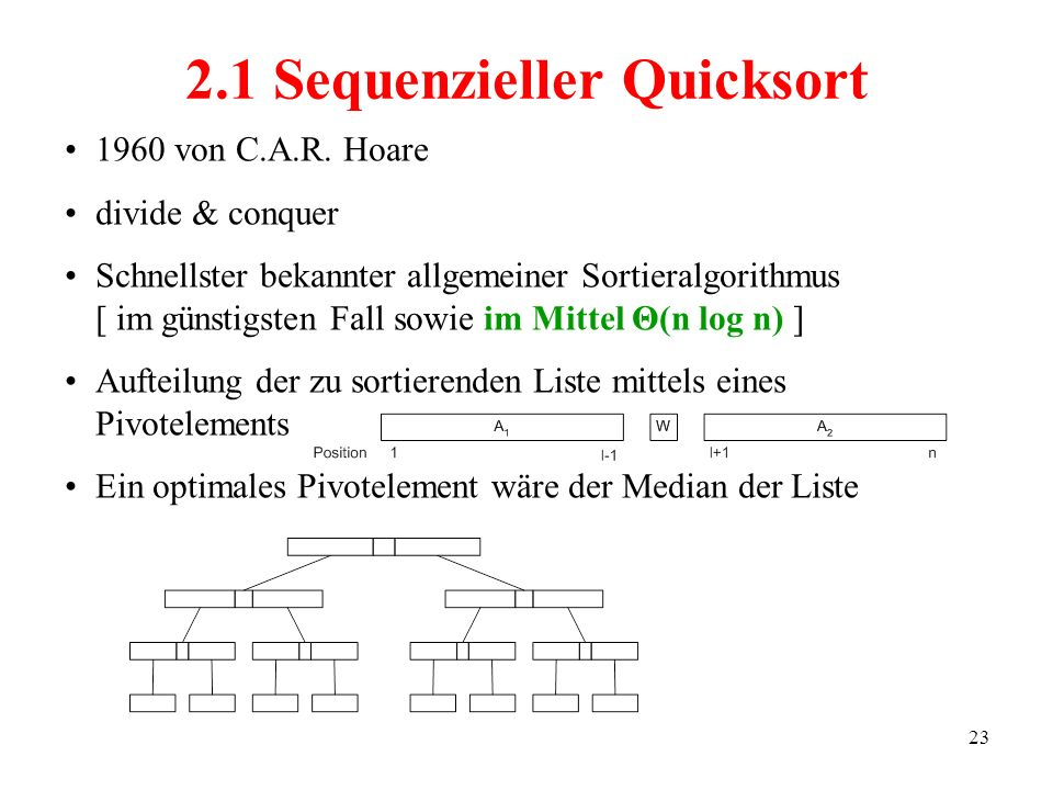 2.1 Sequenzieller Quicksort