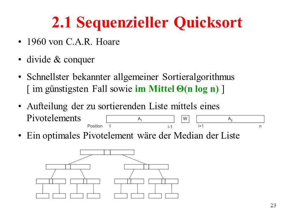 2.1 Sequenzieller Quicksort
