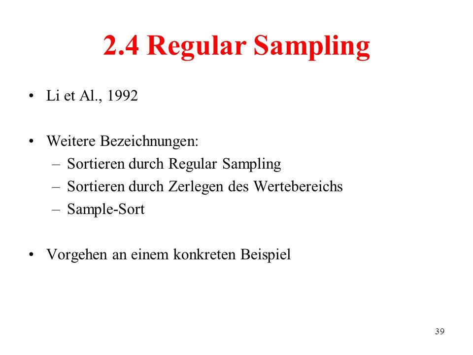 2.4 Regular Sampling Li et Al., 1992 Weitere Bezeichnungen: