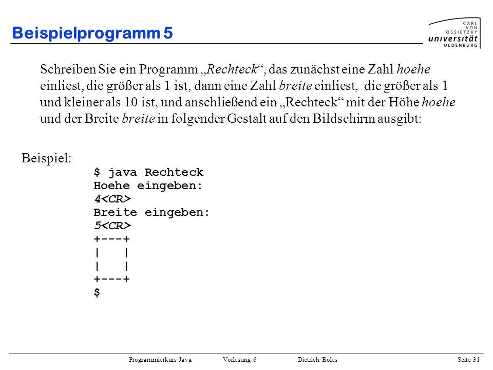 Beispielprogramm 5