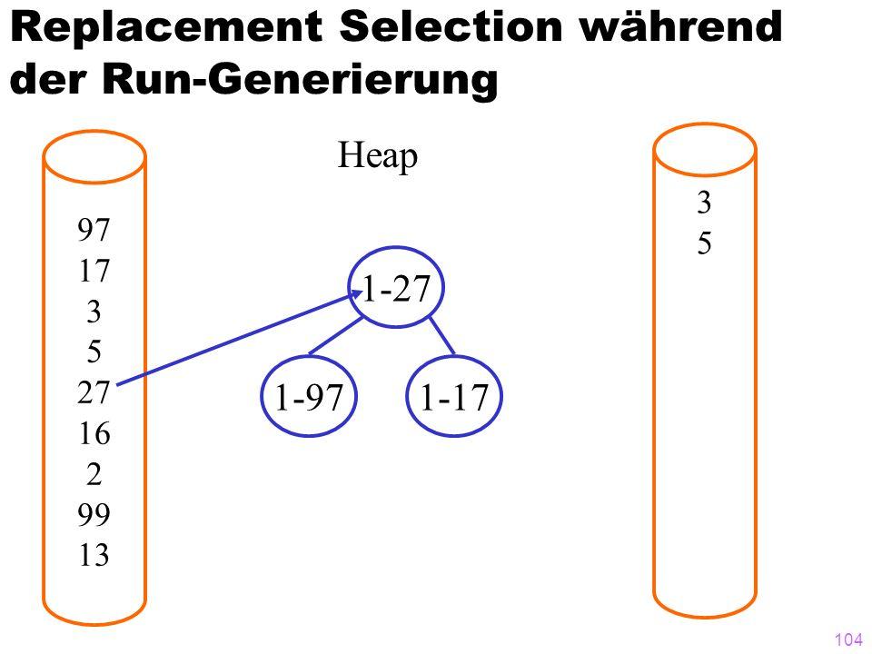 Replacement Selection während der Run-Generierung