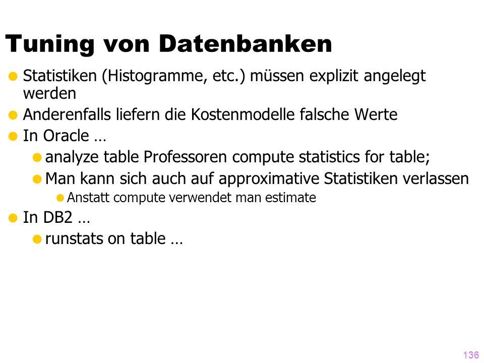 Tuning von Datenbanken