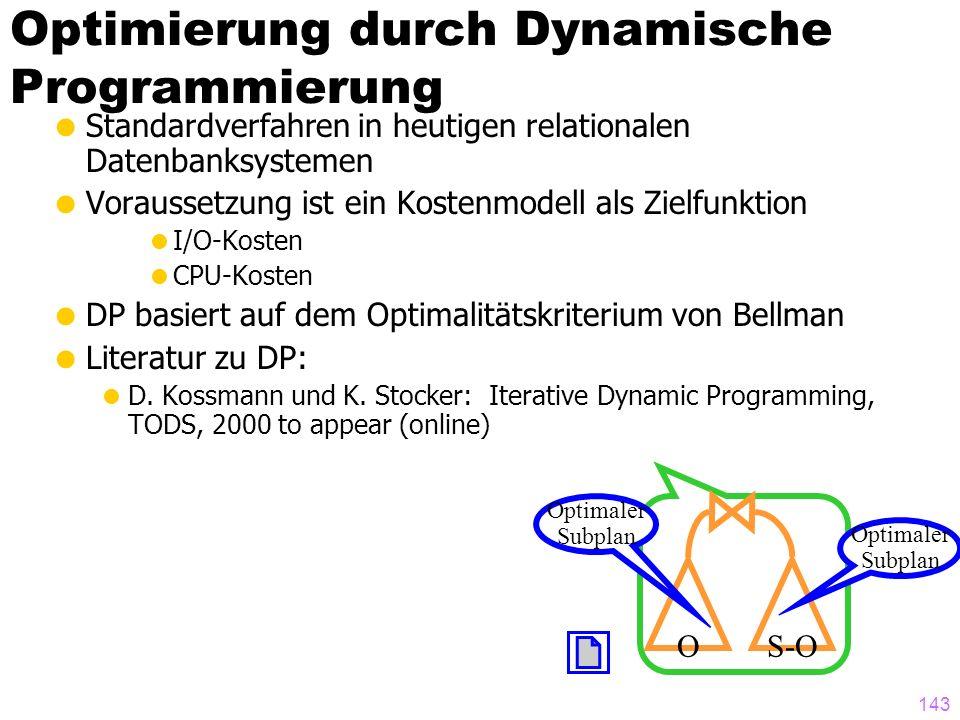 Optimierung durch Dynamische Programmierung