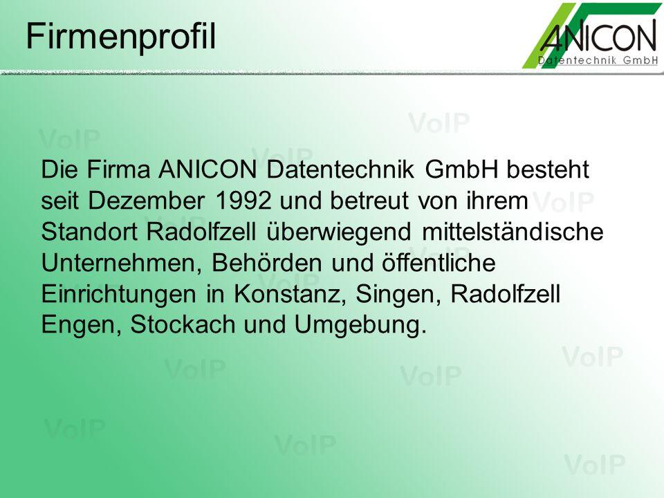 Firmenprofil Die Firma ANICON Datentechnik GmbH besteht