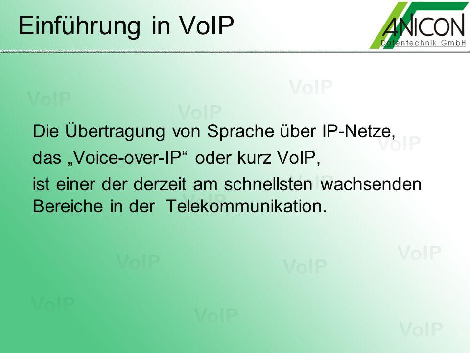 Einführung in VoIP Die Übertragung von Sprache über IP-Netze,