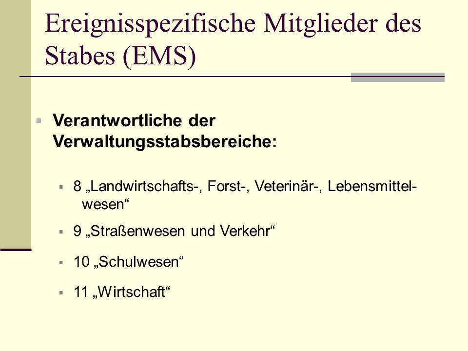 Ereignisspezifische Mitglieder des Stabes (EMS)