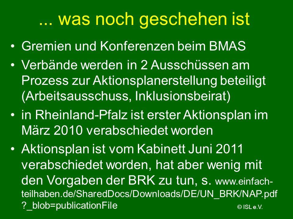 ... was noch geschehen ist Gremien und Konferenzen beim BMAS