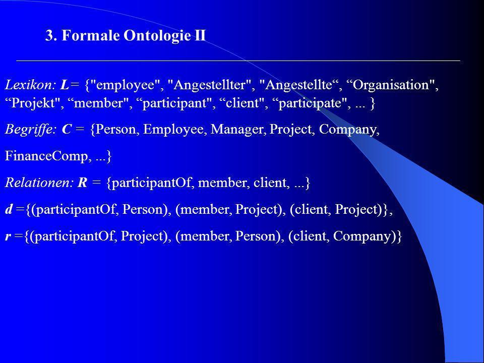 3. Formale Ontologie II