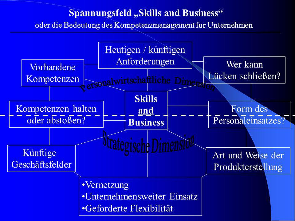"Spannungsfeld ""Skills and Business"