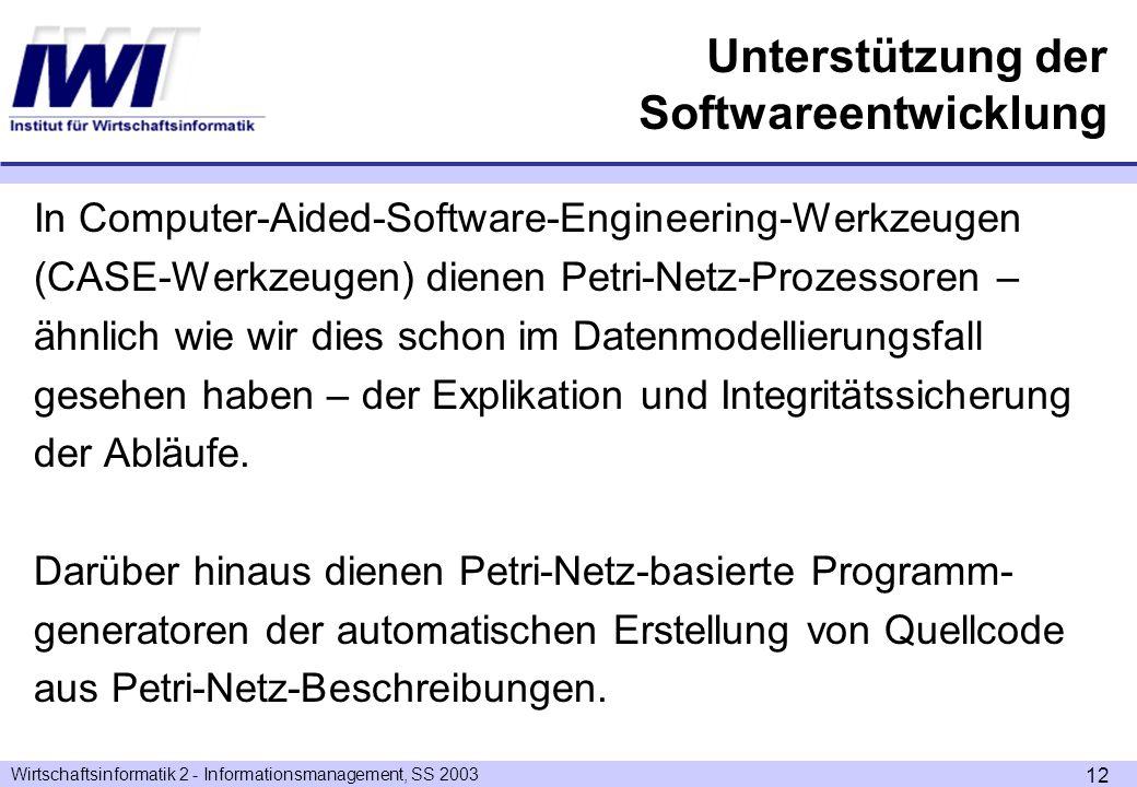 Unterstützung der Softwareentwicklung