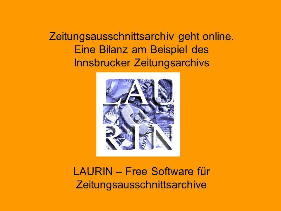 LAURIN – Free Software für Zeitungsausschnittsarchive