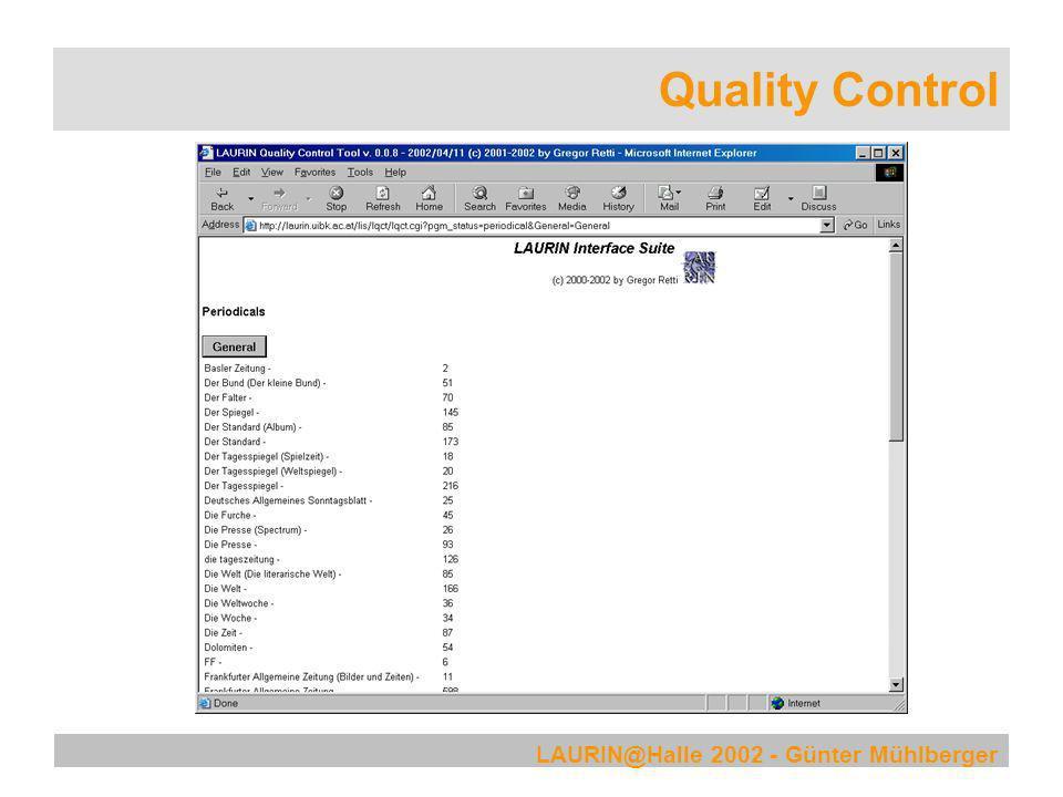 Quality Control LAURIN@Halle 2002 - Günter Mühlberger
