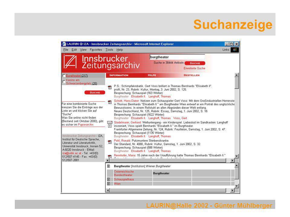 Suchanzeige LAURIN@Halle 2002 - Günter Mühlberger