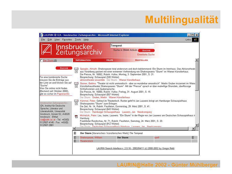 Multilingualität LAURIN@Halle 2002 - Günter Mühlberger