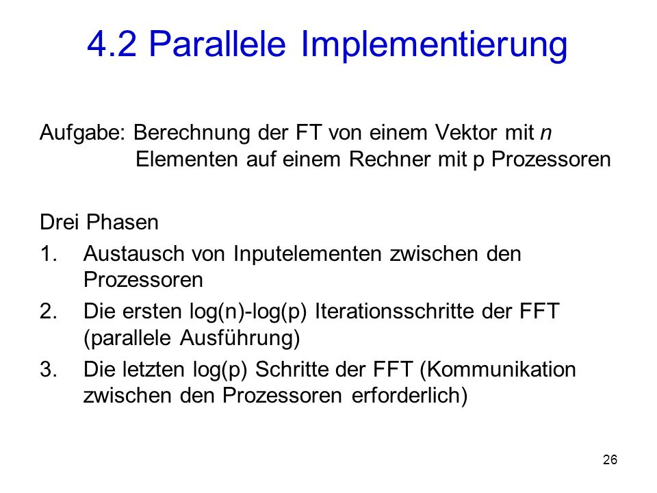 4.2 Parallele Implementierung