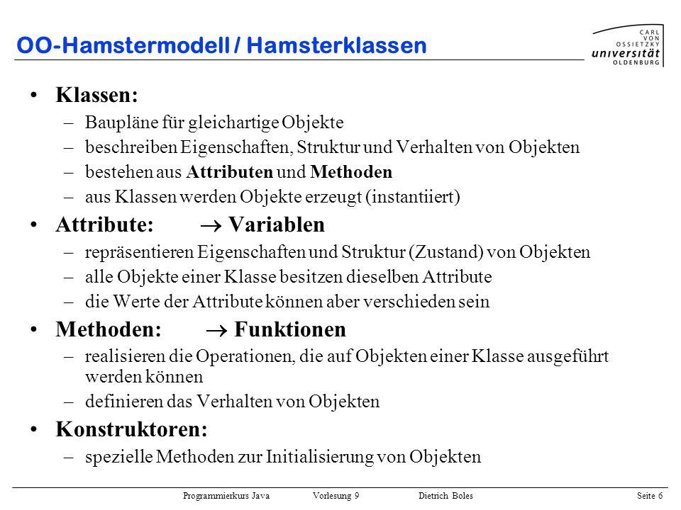 OO-Hamstermodell / Hamsterklassen