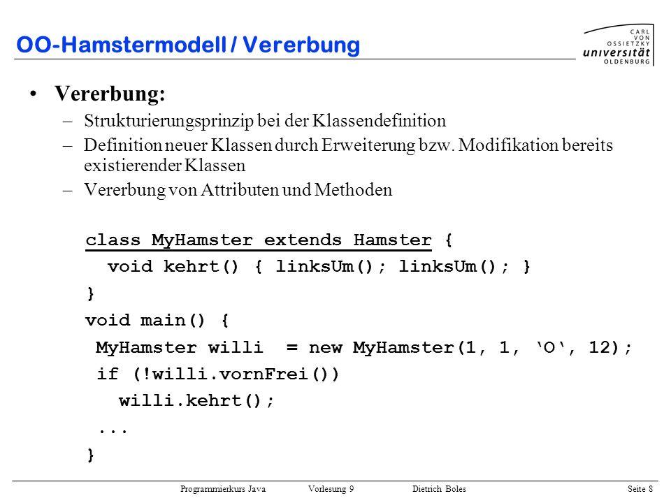 OO-Hamstermodell / Vererbung