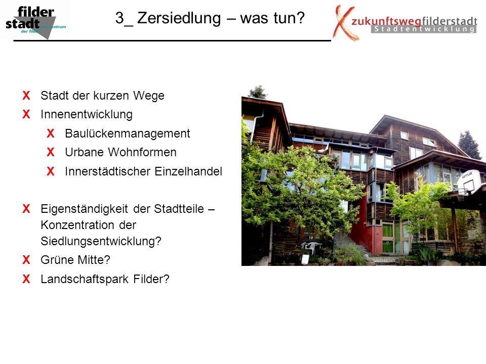 3_ Zersiedlung – was tun X Stadt der kurzen Wege X Innenentwicklung