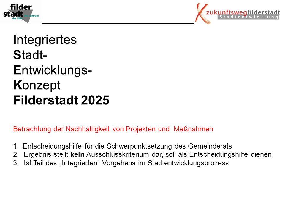 Integriertes Stadt- Entwicklungs- Konzept Filderstadt 2025