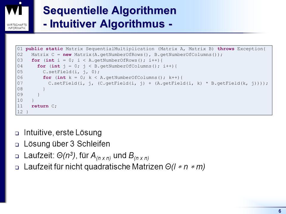 Sequentielle Algorithmen - Intuitiver Algorithmus -