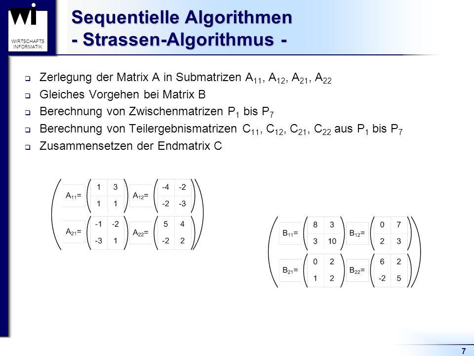 Sequentielle Algorithmen - Strassen-Algorithmus -