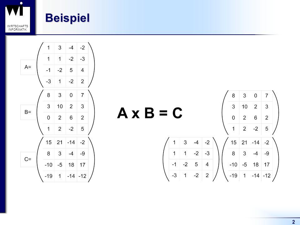 Beispiel A x B = C 2
