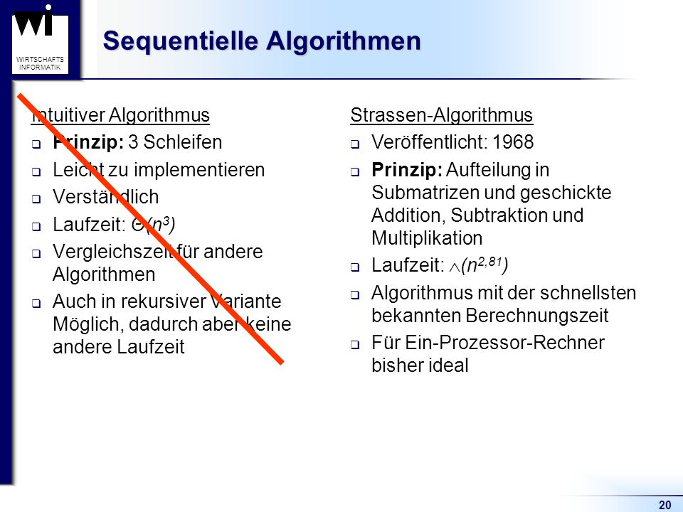 Sequentielle Algorithmen