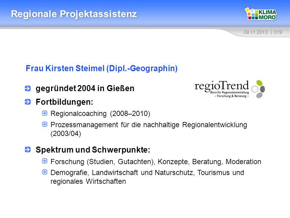 Regionale Projektassistenz