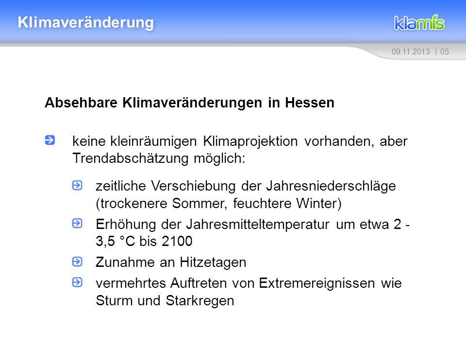 Klimaveränderung Absehbare Klimaveränderungen in Hessen