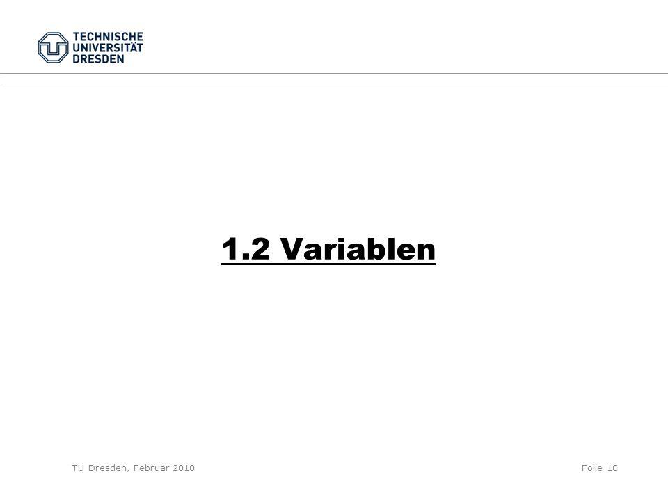 1.2 Variablen