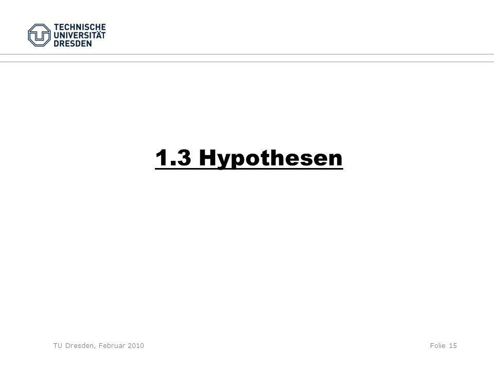1.3 Hypothesen