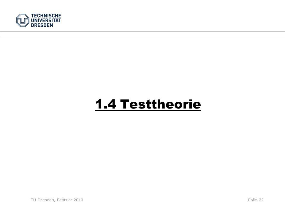 1.4 Testtheorie