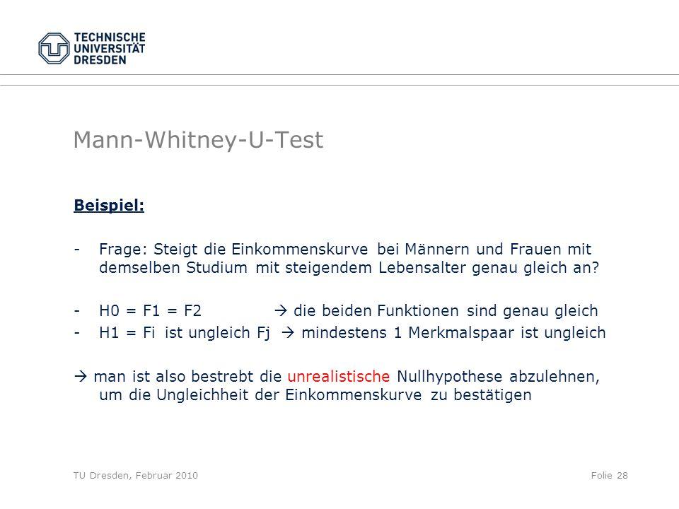 Mann-Whitney-U-Test Beispiel: