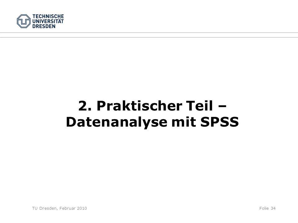 2. Praktischer Teil – Datenanalyse mit SPSS