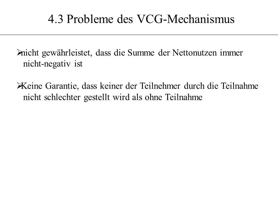 4.3 Probleme des VCG-Mechanismus