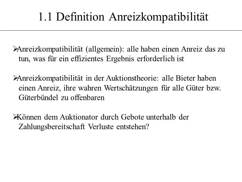1.1 Definition Anreizkompatibilität
