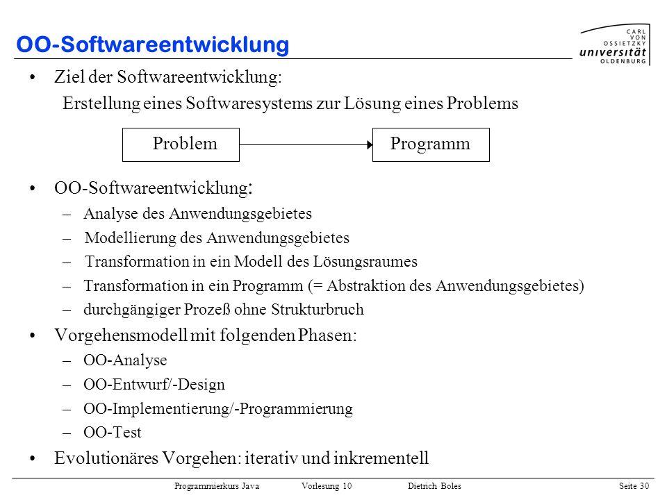 OO-Softwareentwicklung