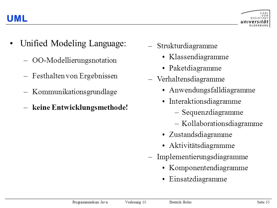Unified Modeling Language: