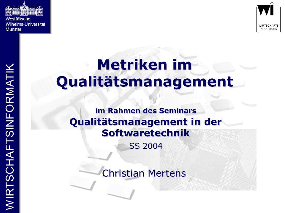 Metriken im Qualitätsmanagement