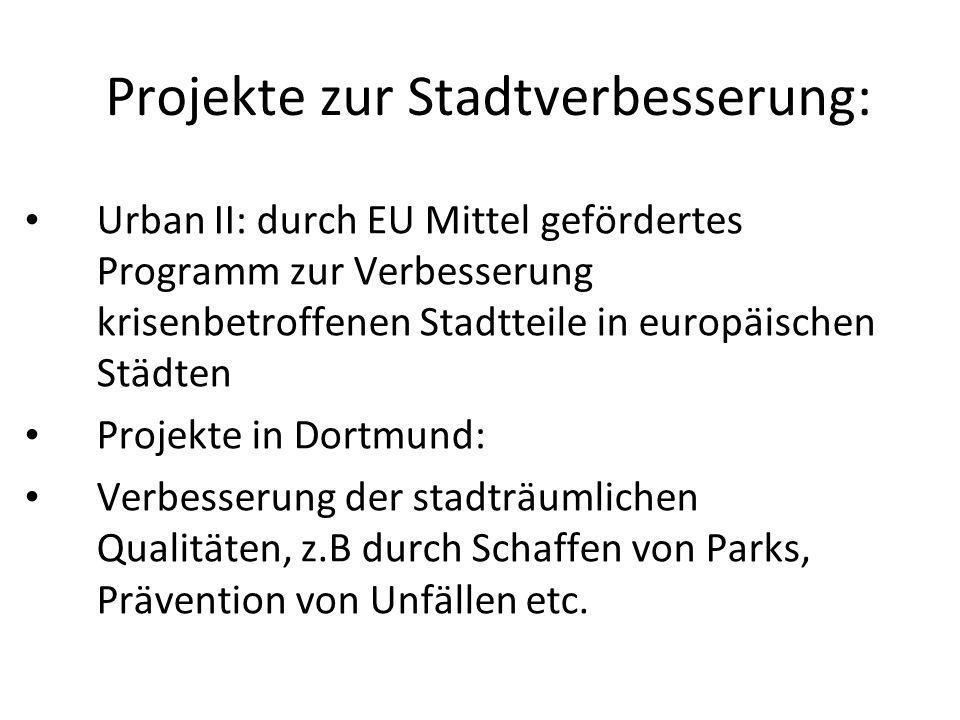 Projekte zur Stadtverbesserung:
